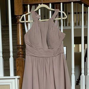 Azazie Bridesmaid Dress Winona in Taupe